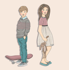 Cute kids illustration.