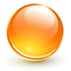 Orange glass sphere