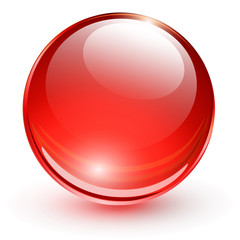 Red glass sphere