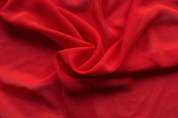 Red silk drapery