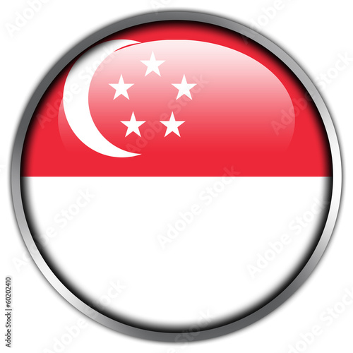Singapore Flag glossy button