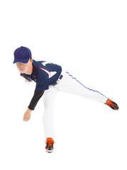 baseball player pitcher throwing ball