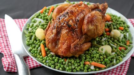poulet entier roti et jardinière 3