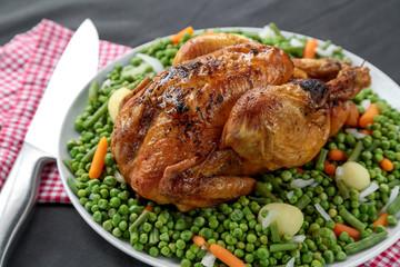 poulet entier roti et jardinière 2