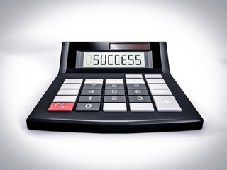 Calculator Success. Business concept