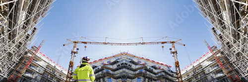 Fotobehang Industrial geb. giant construction industry panoramic