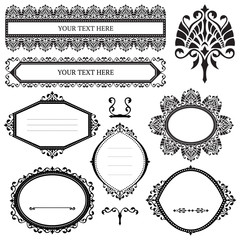 Vector collection of ornamental design elements