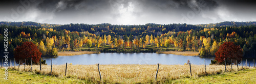 autumn landscape, colors, lakes and forests