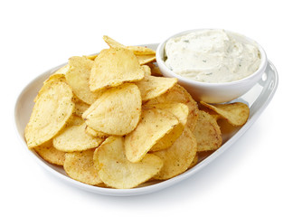 Potato chips and dip