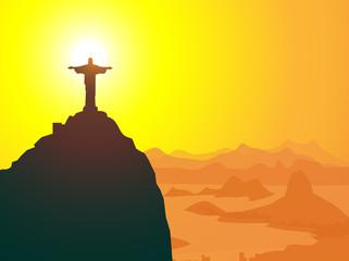 Christ The Redeemer & Rio de Janeiro-vector