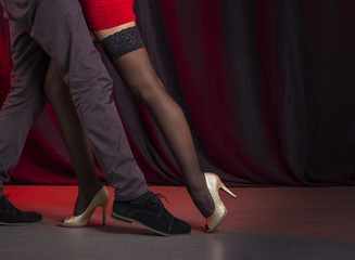 Two tango dancers passion