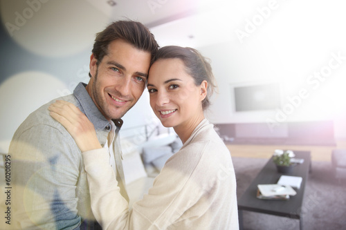 Sweet middle-aged couple embracing each other