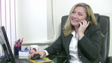 Businesswoman receiving a bad news
