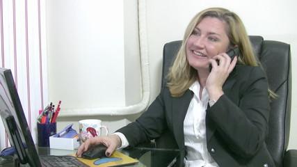 Businesswoman receiving a bad news