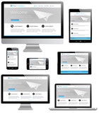 Responsive Web Design - Computer, Laptop, Tablet, Smartphone