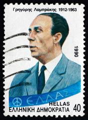 Postage stamp Greece 1990 Gregoris Lambrakis, Political Reformer
