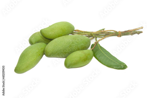 green mango fruits