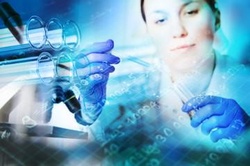 Test tubes closeup,medical glassware
