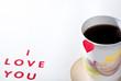 I love you text tea