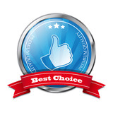 Vector best choice stiker