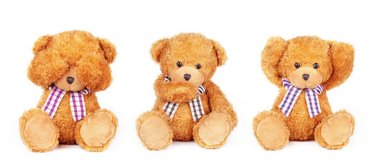 teddies can't see speak hear