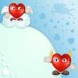 Cartoon herts for valentine s day