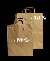 Shopping bags.