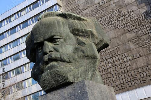 Papiers peints Statue Chemnitz - Karl Marx, Nischel