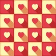 Love pattern with many hearts in pop-art style. vector seamless