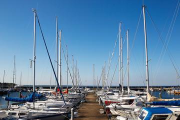 Marina with sailing boats