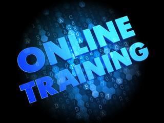 Online Training on Dark Digital Background.