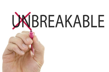 Unbreakbale-Breakable on a virtual screen