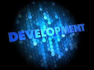 Development on Digital Background.