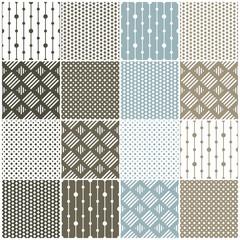 geometric seamless patterns: dots, squares
