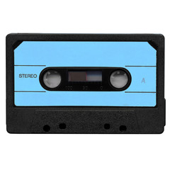 Tape cassette with blue label