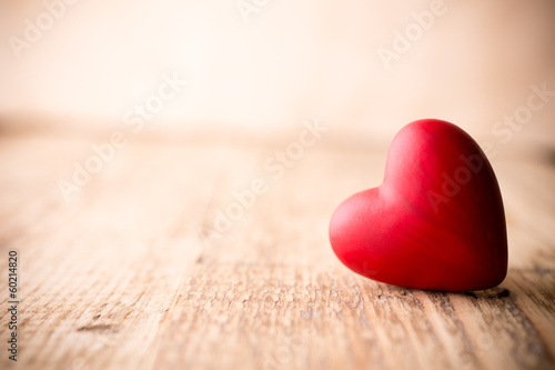 Red heart. - 60214820
