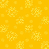 Yellow Solar Pattern