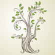 Spring Tree Branch. Vector Illustration