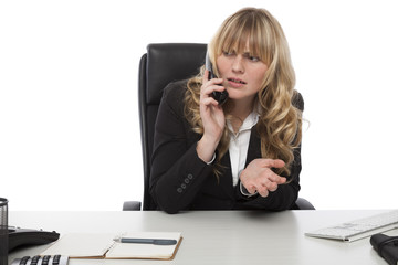 Businesswoman having a discussion on the phone