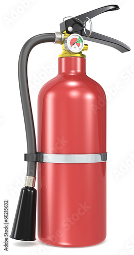 Fire Extinguisher. Classic red Fire Extinguisher.