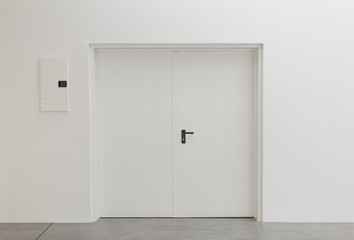 White office door