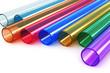 Leinwanddruck Bild - Color acrylic plastic tubes