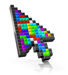 Colorful arrow mouse computer cursor