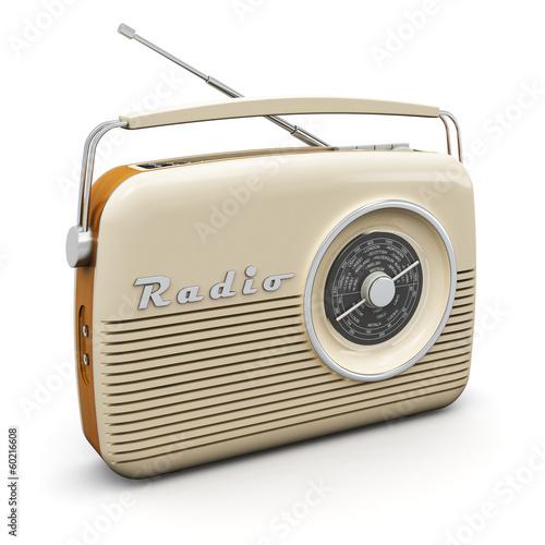 Leinwanddruck Bild Vintage radio