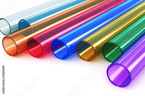 Leinwanddruck Bild Color acrylic plastic tubes