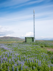 Mobile phone telecommunication radio antenna tower