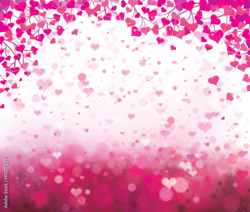 Vector background with hearts for Valentine's day design.