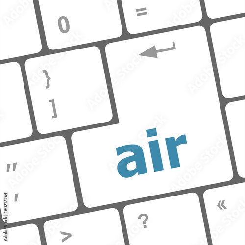 air on computer keyboard key enter button
