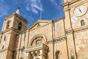 Cathedral, La Valletta old town, Malta island.