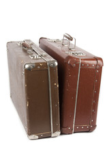 two retro suitcases